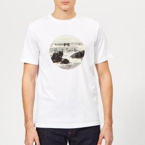 PS PAUL SMITHMen's Regular Fit Surf T-Shirt - White