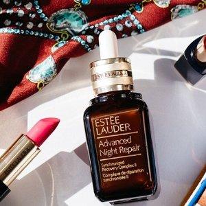 无门槛8.5折+送好礼Estée Lauder 美妆护肤品热卖 收小棕瓶套装