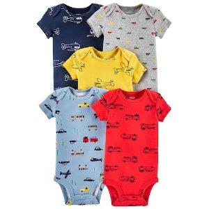 满$25减$10+送礼券Carters 婴童包臀衫5件套特卖 购2套,每件仅$1.6