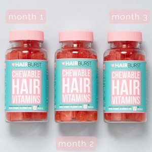 Hairburst爱心维生素软糖3个月装