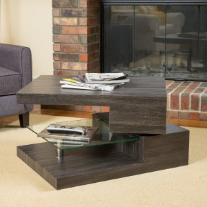 GDF Studio Bushwick Rectangular Rotating Wood Coffee Table - Contemporary - Coffee Tables - by GDFStudio