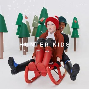 低至6折 卡通印花款$57 降价Hunter 糖果色儿童专场 大童切尔西靴$67 小脚妹纸可穿