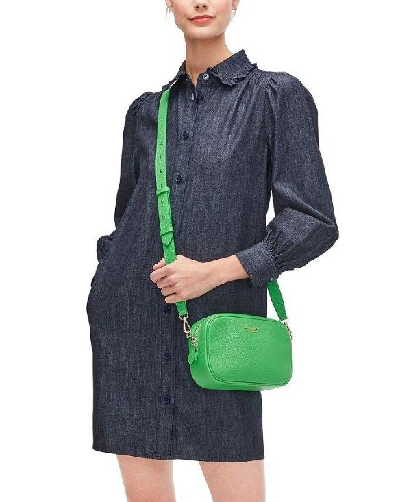 绿色斜挎包