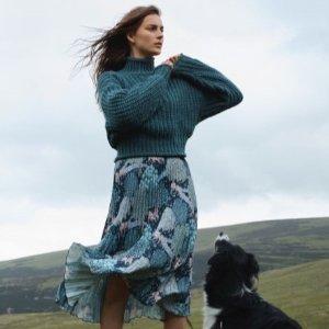 优雅浪漫风美衣£24.99收大表姐同款手慢无:H&M X Morris&Co联名款上线 让你的秋冬开起繁花朵朵!