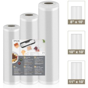 折后€11.3 可加热可冷冻VPCOK 真空密封袋3卷 延长保鲜3-6倍 好剪易封