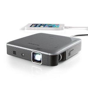 Brookstone Pocket Projector Pro DLP 200 Lumens with IntelliBright Technology