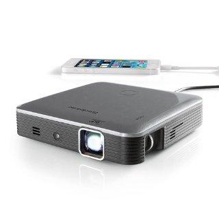 $199.99Brookstone 口袋投影仪Pro 200流明亮度 使用DLP智能光亮技术