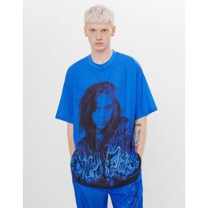 Billie Eilish x Bershka 男士短袖T恤