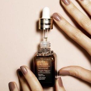 低门槛2重好礼 包括正装洁面Estee Lauder 精选美妆护肤品热卖 收双棕瓶套装