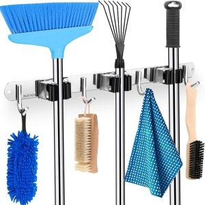 HYRIXDIRECT Mop and Broom Holder