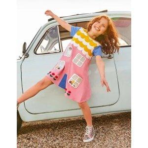 BodenHouse Applique Dress - Formica Pink | Boden US