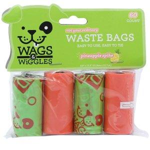 Wags & Wiggles 大号宠物便便袋 4卷 60个 铲屎官必备