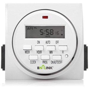 BN-LINK户外7天程控 双插口 计时插座