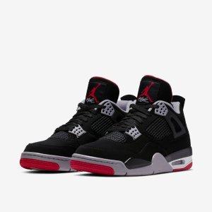5月4日英国时间8点 £164.95新品预告:Nike Air Jordan 4 Retro OG 'Bred' 即将上市