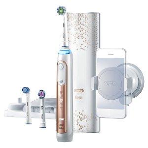 $74.94 送3支刷头+充电盒 可申请$15返现史低价:Oral-B Genius Pro 8000 蓝牙智能电动牙刷