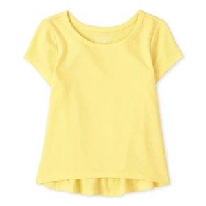 低至4折 单件$3.98起The Children's Place 纯色T恤专场 万年基础款 2件装$9.98