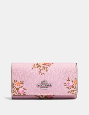 Six Ring Key Case With Cross Stitch Floral Print | COACH