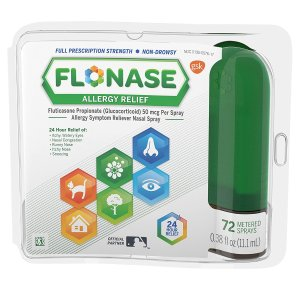Flonase 24小时过敏安心鼻喷雾 72试剂装