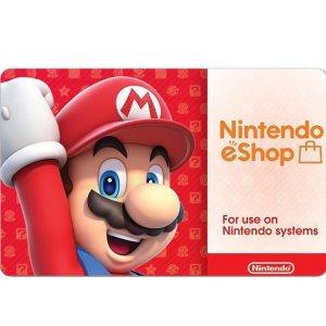 $45任天堂 eShop $50 礼卡下载码