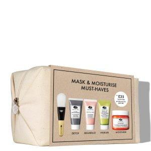 变相4折仅€29 含正装面霜Origins x LF 独家保湿面膜礼盒上架 5件产品总价值€72