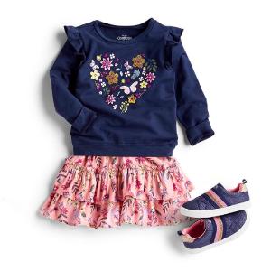 全场包邮+T恤4.47 小童半身裙$9.59OshKosh BGosh 清仓区低至2.2折+用返券更划算