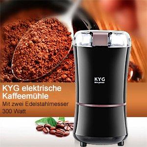 折后仅€16.24 还能研磨香料KYG 咖啡豆研磨机热促 优质不锈钢刀片研磨更快速
