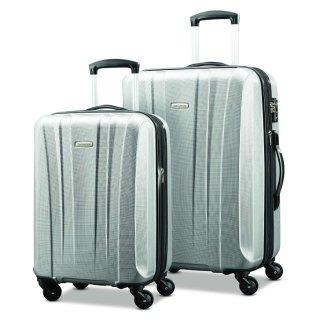 现价$161.89(原价$584.99) 免邮Samsonite 新秀丽 轻便硬壳行李箱 20寸 28寸套装 银色