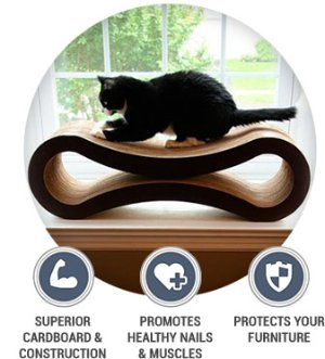 PetFusion Ultimate Cat Scratcher Lounge, Cloud White - Chewy.com