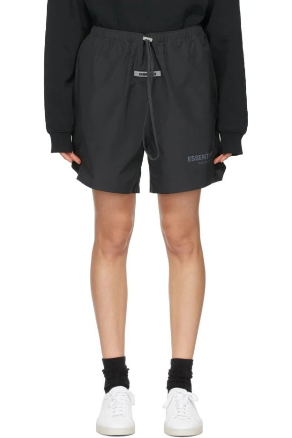 Black Logo 短裤