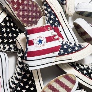 低至6折+额外最高7折+包邮Converse官网 帆布鞋履、运动服饰促销 新款也参加