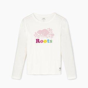 Roots女大童白色长袖