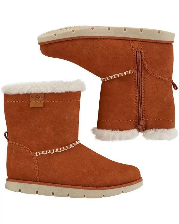 保暖女小童靴子