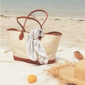 3折起 €20收透明toteW Concept 夏季美包专场 必备野餐包、编织包 韩风满满