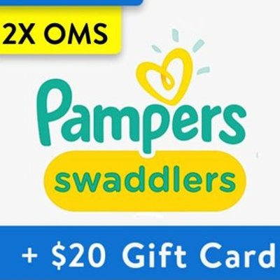 Buy 2 OMS Boxes, Get $20 Gift CardWalmart Pampers Diapers Bundles, All Sizes