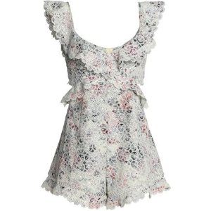 bf60508b4e ZimmermannJasper cutout floral-print broderie anglaise cotton playsuit