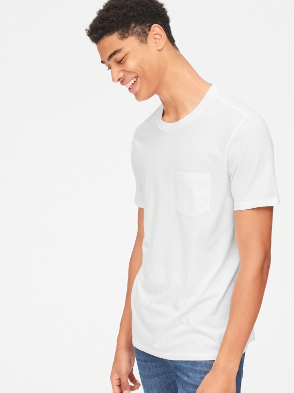 短袖口袋T恤
