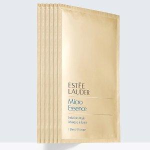 独家76折 6片装 每片仅€8!Estee Lauder 雅诗兰黛 微分子晶透面膜 10分钟立即柔嫩?