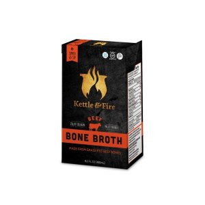 2 Packs100% Grass-fed Beef Bone Broth - 16.2oz