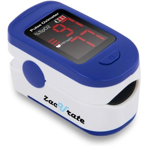 Zacurate 500BL Fingertip Pulse Oximeter Blood Oxygen Saturation Monitor
