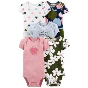 Carter's婴儿印花包臀衫5件套