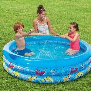仅需$9.98收获夏日乐趣Walmart 儿童花边三圈小泳池 300L水容量 水孩子夏日必备