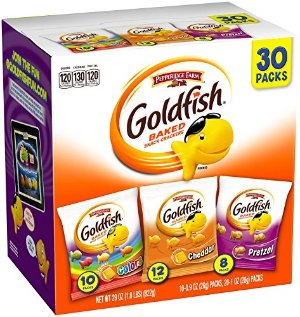 $7.58Pepperidge Farm Goldfish Variety Pack Bold Mix, (Box of 30 bags)
