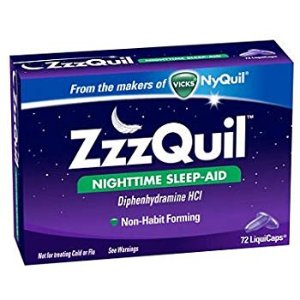 Amazon.com: Vicks ZzzQuil Nighttime Sleep Aid, Non-Habit Forming, Fall Asleep Fast and Wake Refreshed, 48 Ct LiquiCaps: Health & Personal Care