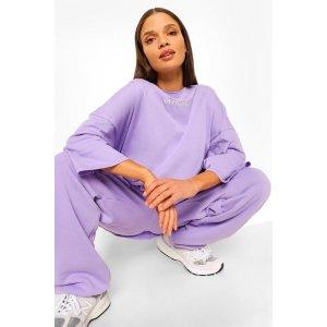 Boohoo香芋紫卫衣