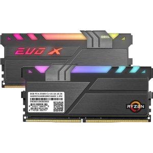 $67.99 支持板卡4巨头RGBGeIL EVO X II AMD版 16GB (2 x 8GB) DDR4 3200 内存