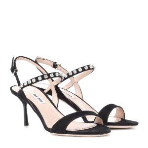 Miu Miu水晶高跟鞋