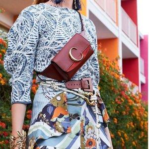 低至5折+包税直邮中国Chloe 美包服饰精选热卖,C bag腰包红色款¥5000+