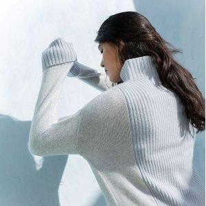 满额7.5折 气质OL必入Club Monaco 质感美衣热卖 冰蓝色系超温柔