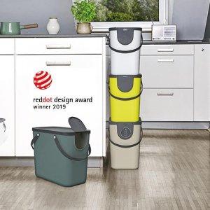折后仅€6.99 原价€12.99史低价:Rotho 有机垃圾桶 绿色生活好帮手 自制绿色有机肥料