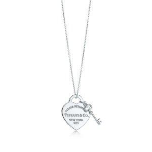 Tiffany & Co. 爱心钥匙项链 可刻字
